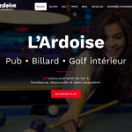 L'Ardoise pub billard et golf par 3leadership Marketing web pour PME