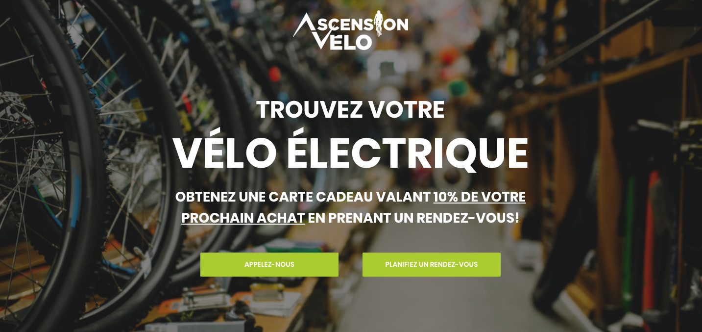 Amplio numérique - Ascension Vélo - adwords - google ads - publicité web
